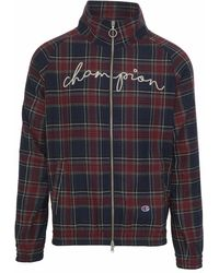 Champion - Tartan Sweatshirt In Wool Blend For Clothsurgeon With Embroidered Brand Signature. - Lyst