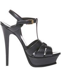 Saint Laurent Tribute 105mm Sandals - Black