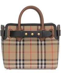 Burberry Shoulder Bag In Beige - Natural