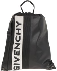 Givenchy Black Backpack In Calf Leather Closed By Coulisse With Two-tone Logo On The Front.