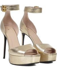 Balmain Saveria Sandals - Metallic