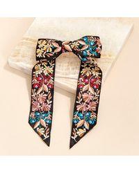 Mignonne Gavigan Flora Bow Hair Clip Black - Multicolor