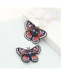 Mignonne Gavigan Butterfly Brooch Pink/blue