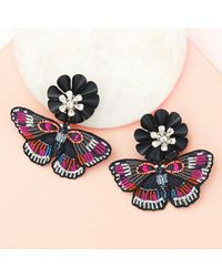 Mignonne Gavigan Butterfly Dangle Earrings Pink/blue