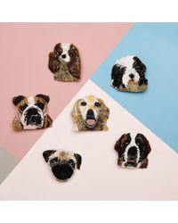 Mignonne Gavigan Dog Brooch - Multicolor