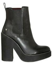 Windsor Smith Playerleather boots - Noir