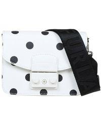 Furla Mini Metropolis Bag In Leather - Wit