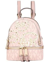 Michael Kors Mini Rhea Backpack - Roze