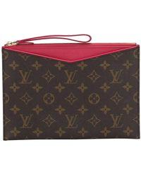 Louis Vuitton Tweedehands Monogram Pochette Pallas Canvas - Bruin