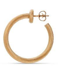 Jane Kønig Salon Hoop, Gold-plated Sterling Silver - Geel