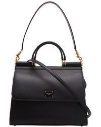 Dolce & Gabbana Leren Tas - Zwart