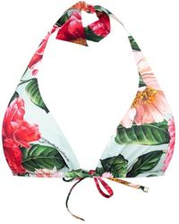 Dolce & Gabbana Swimsuit Top With Logo - Roze