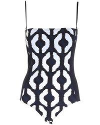 Max Mara Whole Bustier Swimsuit - Zwart