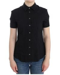 John Galliano - Cotton Shirt Top - Lyst