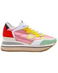 Philippe Model Sneakers Triomphe Satin Pop - Roze