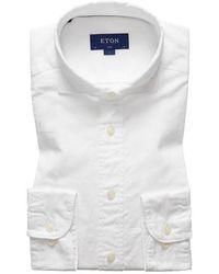 Eton 937584691 01 shirt lm dress - Blanc