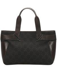 Gucci Canvas Handbag - Bruin