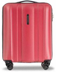 Conwood Monterey 55 Cm Deep Red Metallic Cabin Suitcase - Rood