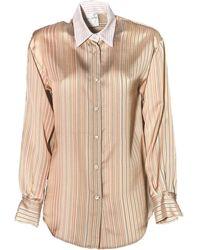 Forte Forte - Fluid stripe open back shirt - Lyst
