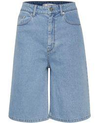 Gestuz Elma wide shorts - Azul