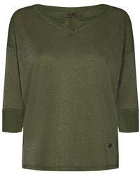 Mos Mosh Kiara 3/4 blouse 136870 - Verde