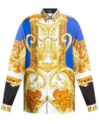 Versace Renaissance-printed Shirt - Geel