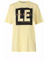 Munthe Sunrise T-shirt - Geel