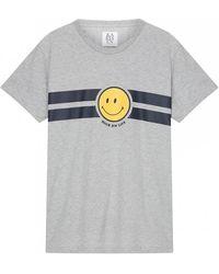 Zoe Karssen Smiley Stripe Tee - Gris