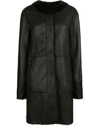 DROMe Astrakhan Fur Coat - Zwart