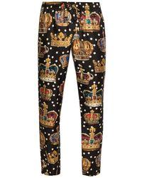 Dolce & Gabbana Silk Pyjama Pants - Zwart