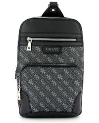 Guess Dan Logo Shoulder Bag - Zwart