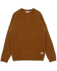 Carhartt WIP Maglione Anglistic Sweater - Bruin