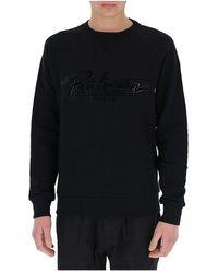 Balmain - Logo-print sweatshirt - Lyst
