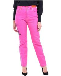 Heron Preston Hwya008r20927026 Straight Trousers - Roze
