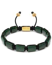 Nialaya De Flatbead Collection - Green Afrikaanse Jade En Gold - Groen