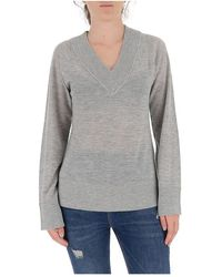Theory - V-neck Knitted Jumper - Lyst