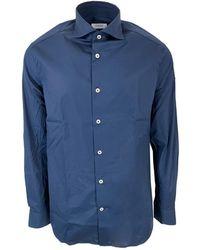 Seventy Camicia Modca0320Car220506 - Bleu