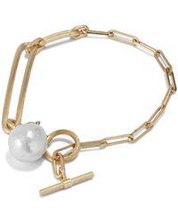 Jane Kønig Salon Pearl Armband,-zilver - Geel