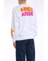 Aries Fast Food Sweatshirt Blanco