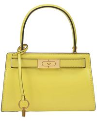 Tory Burch Lee Radziwill Petite Bag In Leather - Geel