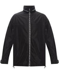 Alexander McQueen Track Jacket With Logo - Zwart