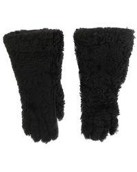 Dolce & Gabbana Fur Gloves - Grijs