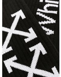 Off-White c/o Virgil Abloh Calcetines de altura media con logo - Negro