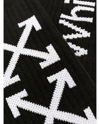 Off-White c/o Virgil Abloh Calcetines con motivo Arrows - Negro