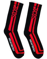 Gcds Round Socks - Zwart