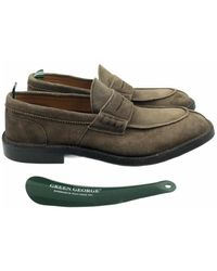 Green George Loafers - Marrone