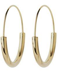 Maria Black Hoop Earrings - Geel