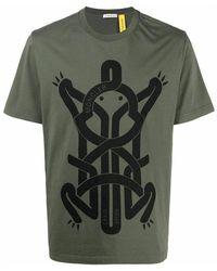 Moncler Logo Print T-shirt - Groen