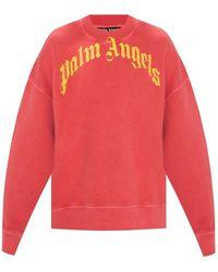 Palm Angels Sweatshirt Met Logo - Rood