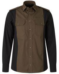 Neil Barrett Bicolor Military Shirt - Groen
